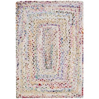 Hurst Hand-Woven Cotton Ivory Area Rug Rug Size: Rectangle 26 x 4