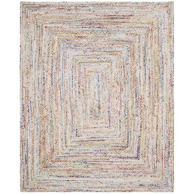 Hurst Hand-Woven Cotton Ivory Area Rug Rug Size: Rectangle 8 x 10