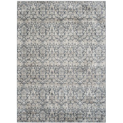 Vishnu Navy & Creme Area Rug Rug Size: Rectangle 8 x 11