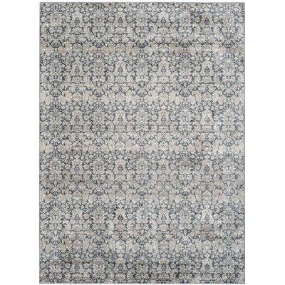Vishnu Navy & Creme Area Rug Rug Size: Rectangle 8 x 11