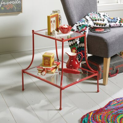 Almelo End Table Color: Red