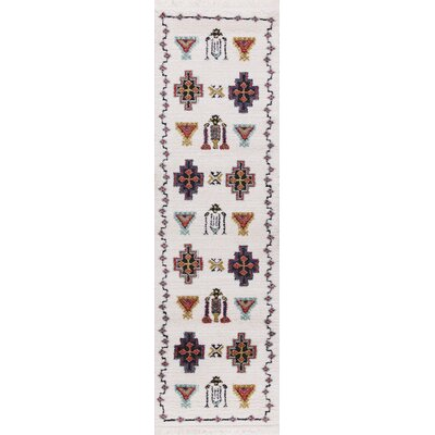 Rubie White/Black Area Rug Rug Size: Rectangle 23 x 72