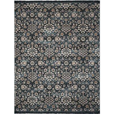 Zennia Turquoise/Cream Area Rug Rug Size: Rectangle 8 x 10