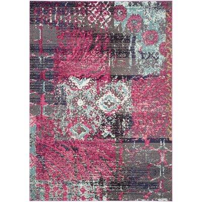Chana Pink Area Rug Rug Size: Rectangle 67 x 92