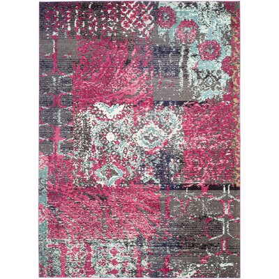Chana Pink Area Rug Rug Size: Rectangle 8 x 11