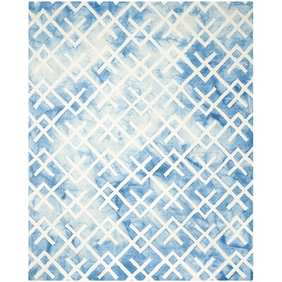 Castries Hand-Tufted Blue/Ivory Area Rug Rug Size: Rectangle 8 x 10