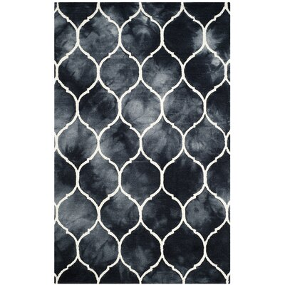 El Segundo Hand-Tufted Graphite/Ivory Area Rug Rug Size: Rectangle 5 x 8