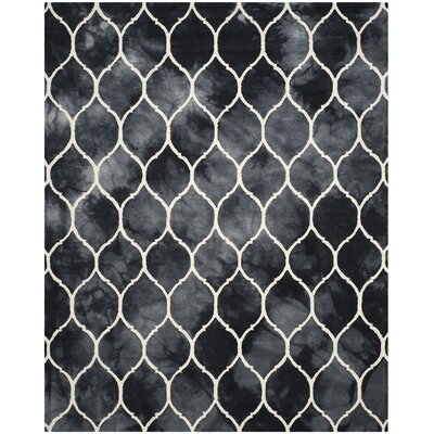 El Segundo Hand-Tufted Graphite/Ivory Area Rug Rug Size: Rectangle 8 x 10