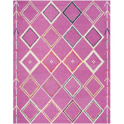 Carolwood Hand Tufted Wool Fuchsia Area Rug Rug Size: Rectangle 8 x 10