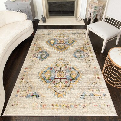 Cioffi Tribal Driftwood Area Rug Rug Size: Rectangle 8 x 10