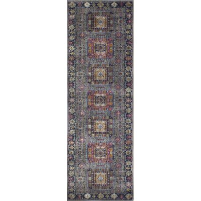 Ashburn Gray Area Rug Rug Size: Runner 26 x 8