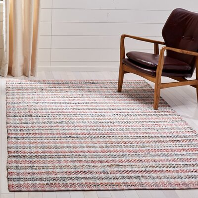 Bester Hand-Woven Cotton Pink/White Area Rug Rug Size: Rectangular 8 x 10