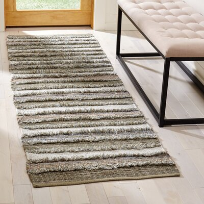 Bester Hand-Woven Cotton Beige Area Rug Rug Size: Runner 23 x 8