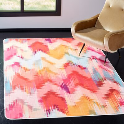 Janiyah Ikat Pink Area Rug Rug Size: Rectangle 51 x 76