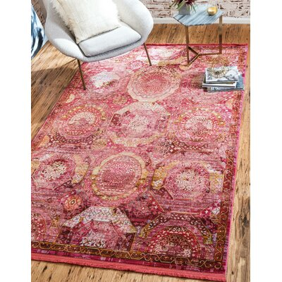 Lonerock Pink Area Rug Rug Size: Rectangle 84 x 10