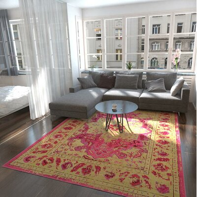 Killington Pink/Beige Area Rug Rug Size: Rectangle 8 x 10