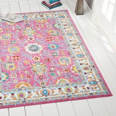 Montana Pink/Ivory Area Rug Rug Size: 52 x 72