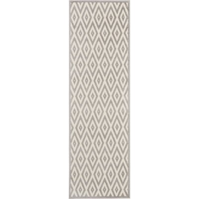 Burnie White/Gray Indoor Area Rug Rug Size: Runner 23 x 76