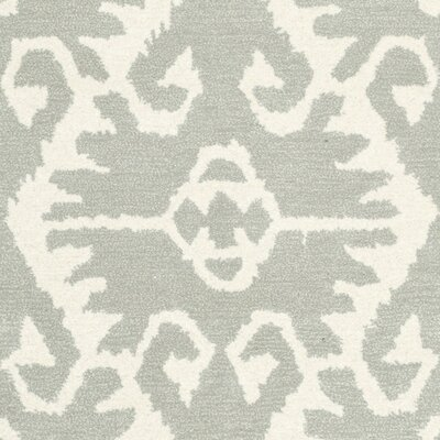 Kouerga Gray/Ivory Area Rug Rug Size: Rectangle 8 x 10