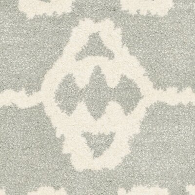Kouerga Gray/Ivory Area Rug Rug Size: Rectangle 3 x 5