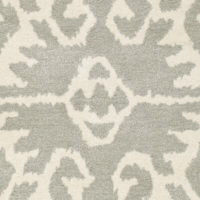 Kouerga Gray/Ivory Area Rug Rug Size: Rectangle 6 x 9