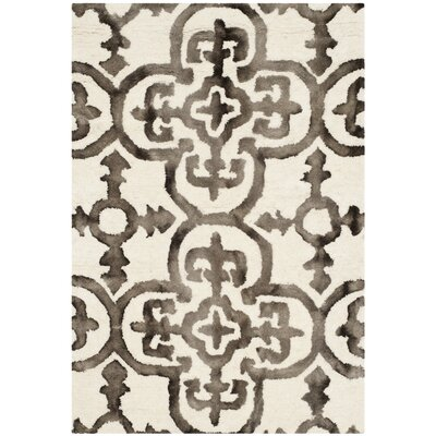 Naples Park Ivory/Brown Area Rug Rug Size: Rectangle 2 x 3