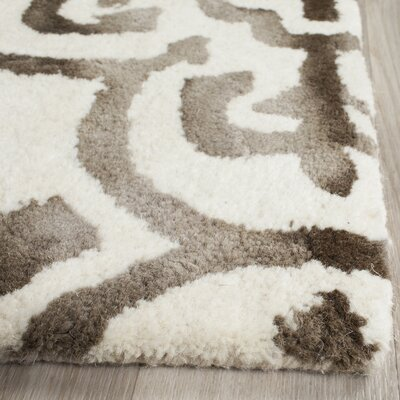 Naples Park Ivory/Brown Area Rug Rug Size: Rectangle 8 x 10