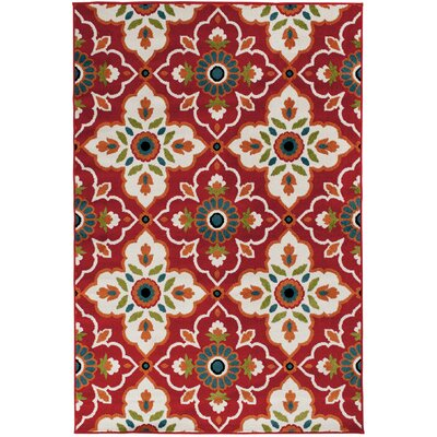 Bethea Red Area Rug Rug Size: Rectangular 710 x 910