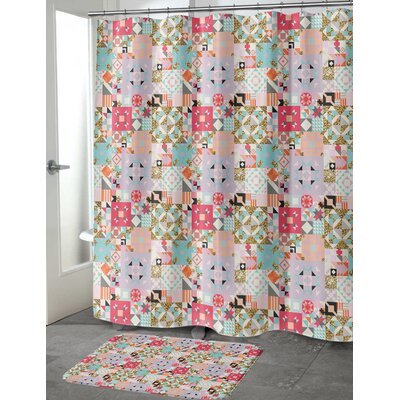 Chrisman Shower Curtain Color: Red, Size: 70 H x 72 W