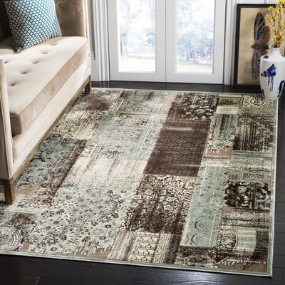 Saint-Michel Light Blue/Anthracite Area Rug Rug Size: Rectangle 53 x 76