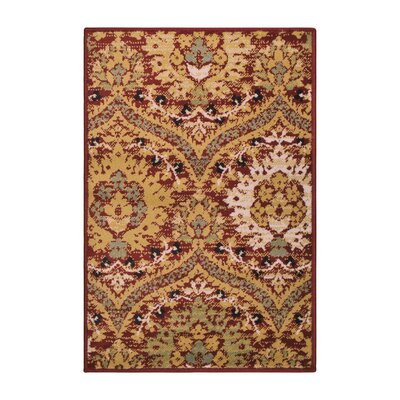 Charmine Red/Green Area Rug Rug Size: Rectangle 2 x 3