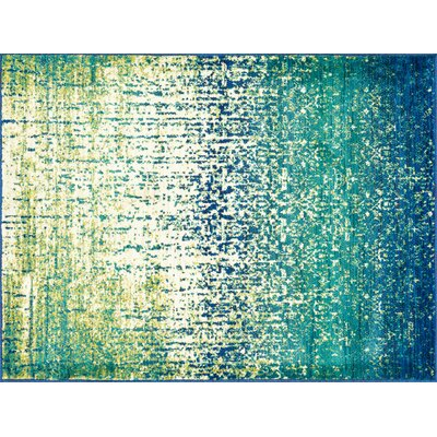 Cedro Blue/Green Area Rug Rug Size: Rectangle 39 x 52