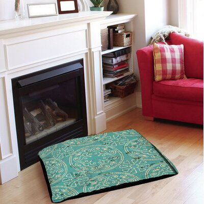 Adriana Indoor/Outdoor Pet Bed Size: 50 L x 40 W, Color: Teal