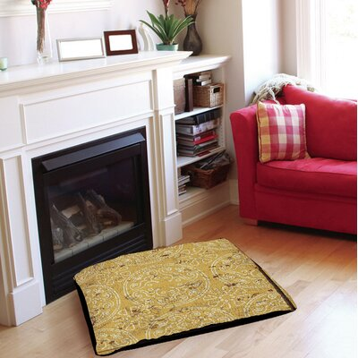 Adriana Indoor/Outdoor Pet Bed Size: 50 L x 40 W, Color: Yellow