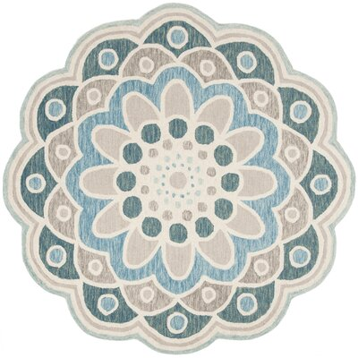 Hinesville Hand Hooked Wool Gray Area Rug� Rug Size: Round 6