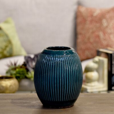 Ceramic Round Ribbed Table Vase BNRS7955 40832046