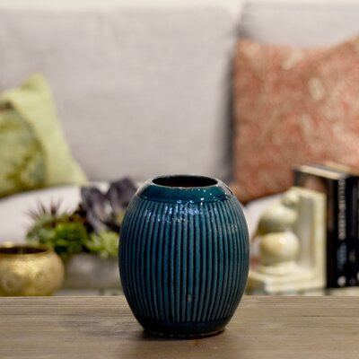 Ceramic Round Ribbed Table Vase BNRS7955 40832047