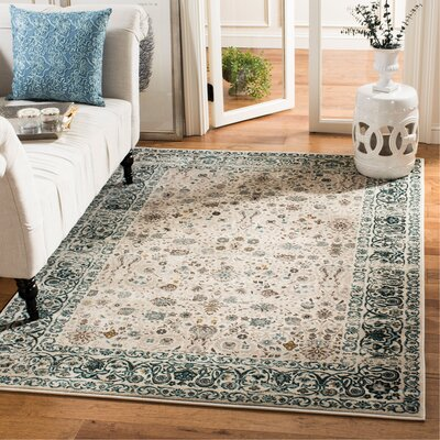 Zennia Blue Area Rug Size: Rectangle 51 x 76