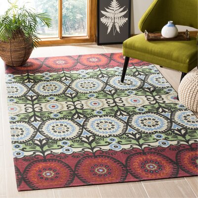 Allison Ivory & Multi Colored Area Rug Rug Size: Rectangle 5 x 8