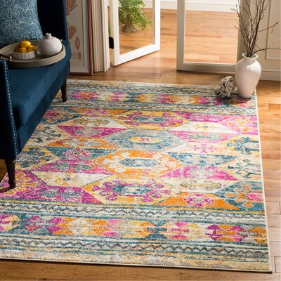 Esparza Pink Area Rug Rug Size: Rectangle 51 x 76