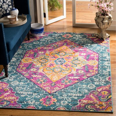 Esparza Orange Area Rug Rug Size: Rectangle 51 x 76