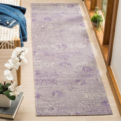Port Laguerre Purple Area Rug Rug Size: Runner 2 x 73