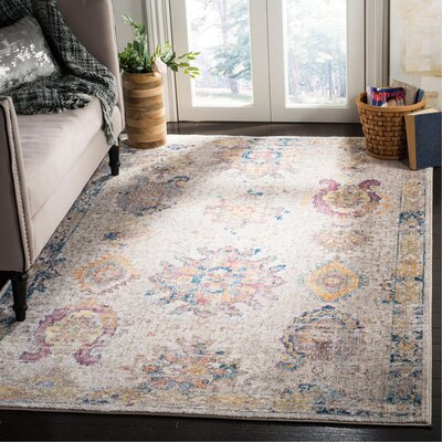 Gardner Light Gray Area Rug Rug Size: Rectangle 6 x 9