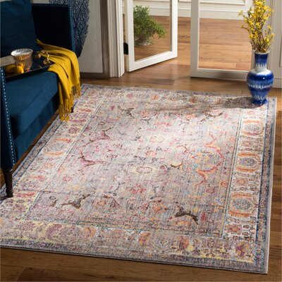 Sahraoui Gray/Light Gray Area Rug Rug Size: Rectangle 51 x 76