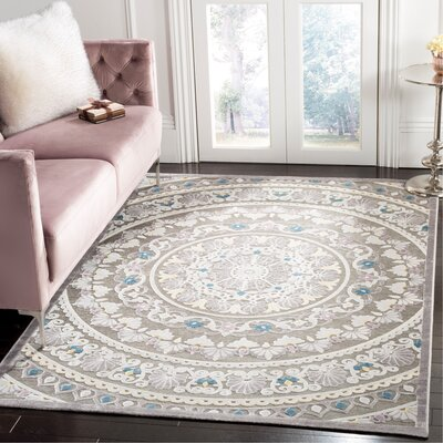 Boyer Gray/Beige Area Rug Rug Size: Rectangle 51 x 76