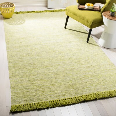Boevange-sur-Attert Hand Woven Cotton Olive Area Rug Rug Size: Rectangle 23 x 39