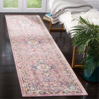 Soren Purple Area Rug Rug Size: Runner 23 x 8
