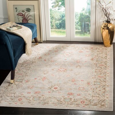 Chauncey Oriental Light Gray Area Rug Rug Size: Rectangle 3 x 8
