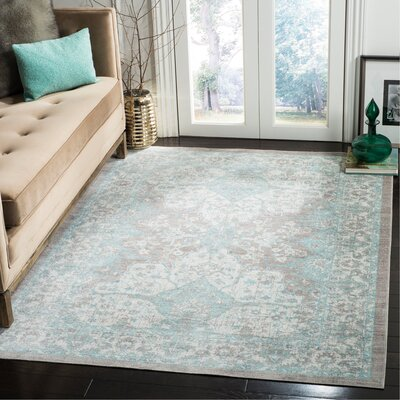 Edgehill Light Gray Area Rug Rug Size: Rectangle 5 x 7