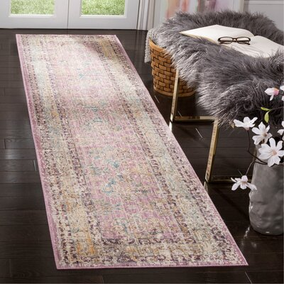Soren Rose/Light Gray Area Rug Rug Size: Runner 23 x 8